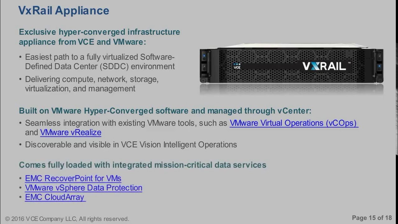 VxRail Appliance Basics - YouTube