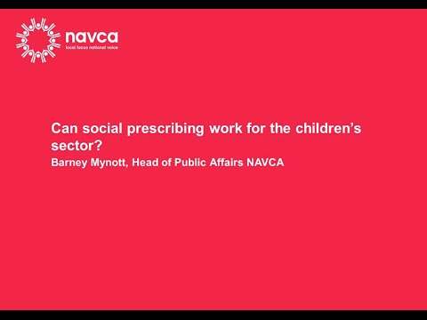 Can social prescribing work for the childrens sector - Childrens Partnership webinar