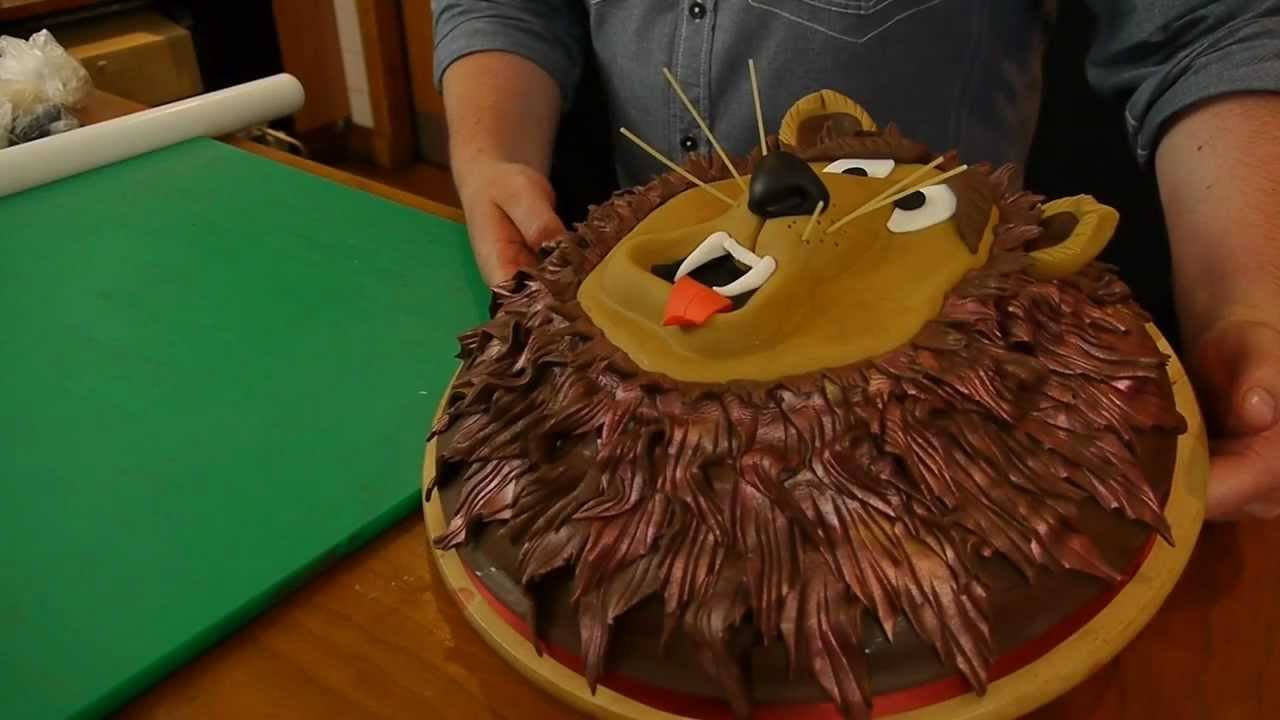 How To Make A Lion Face Cake