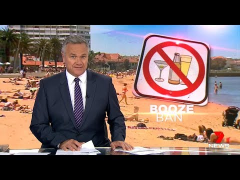Alcohol Beach Ban Caused By African Immigration.(St Kilda) Seven + Nine News