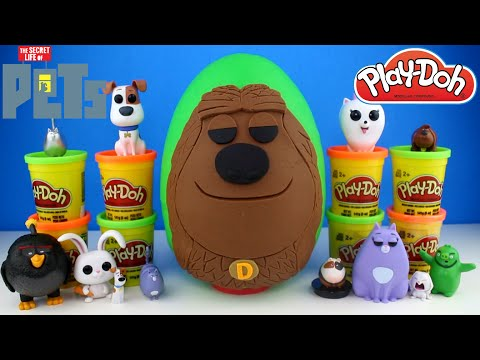 The Secret Life of Pets Movie Duke Play Doh Egg - Secret Life of Pets Toys, Superheroes & Disney Toy