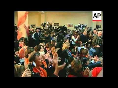 WRAP Yushchenko declares victory, supporters celebrate