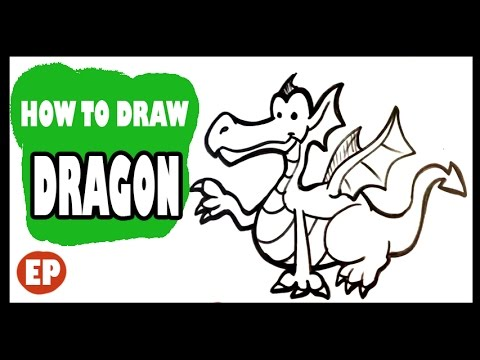 how to draw a dragon cute easy pictures to draw youtube