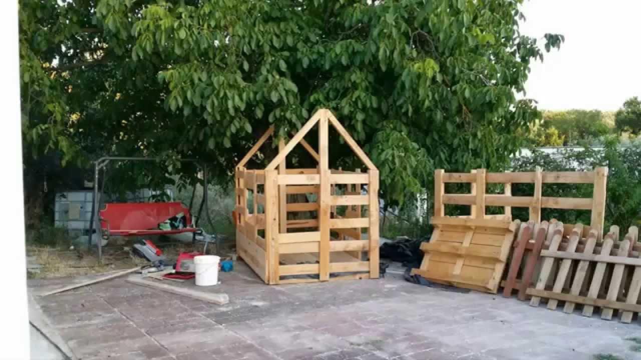 Casa para ni os de madera a partir de palet youtube for Casetas de madera para jardin baratas