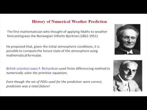 Mathematical methods involved in numerical weather prediction by Dr. Neena Joseph Mani