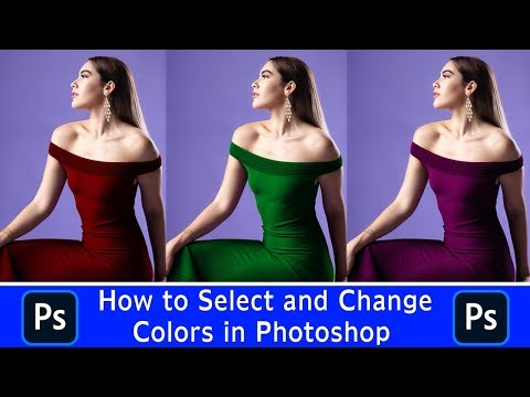 How to Select and Change Colors in Photoshop | Photoshop Video Tutorial thumbnail