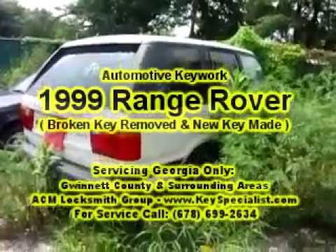 Locksmith in Duluth: 1999 Range Rover - New Key Made from Scratch!