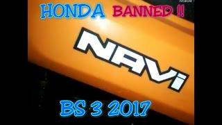 Honda Navi 2017 Upcoming || Rip Bs - 3 Sales Banned In India