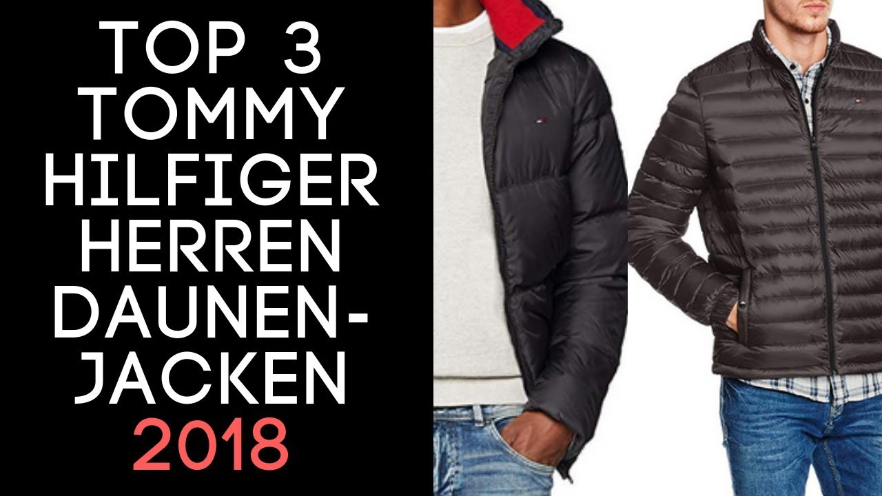 7460d5bd290 Tommy Hilfiger Daunenjacke Herren  Übergangsjacke - TOP 3 auf Amazon! Review!  Männer Tube