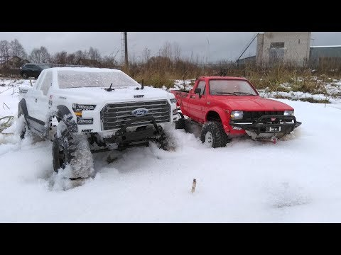 Сравнительный тест-драйв FORD и TOYOTA (MST CFX-W vs RC4WD TF2)