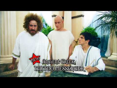 Horrible Histories     Greeks  messages from the gods  Shouty Man  New  Ancient Greek Tattoo Messeng