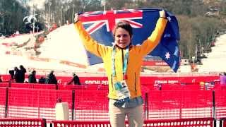 Ben Tudhope - Aussie Flag Bearer - Sochi Paralympics Closing Ceremony