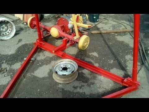 видео: Станок  для ударно канатного бурения.