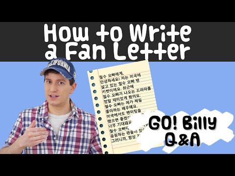 How to Write a Letter to a Korean Celebrity