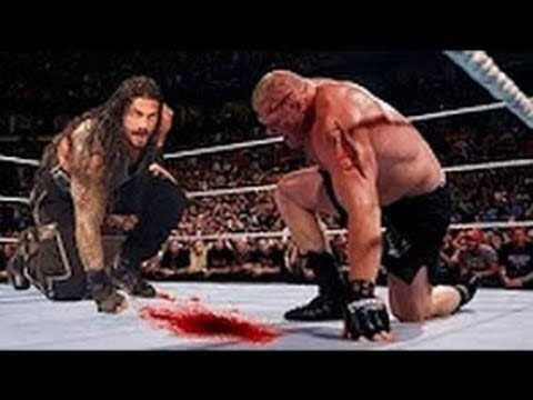 Roman Rings vs Broke Lesnar wretlemania full match highlight must watch