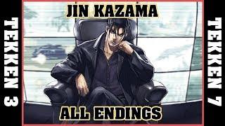 JIN KAZAMA all endings [TEKKEN 3 - TEKKEN 7]