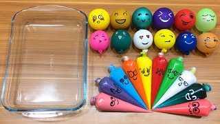 Making Slime with Piping Bags !!! Mixing Random Things into Clear Slime Relaxing with Funn ...