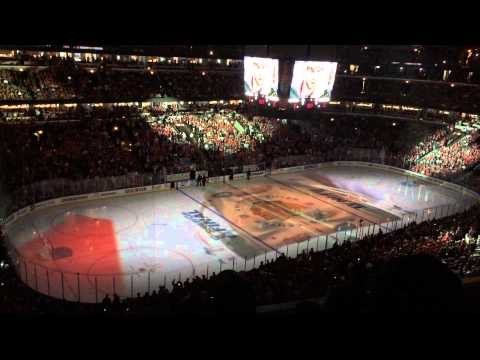6/10/15 United Center on ice projection Stanley Cup Final