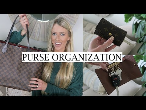 HOW I ORGANIZE MY PURSE + TIPS   WHAT'S IN MY BAG - LV NEVERFULL MM   PURSE ORGANIZATION   ERICA LEE