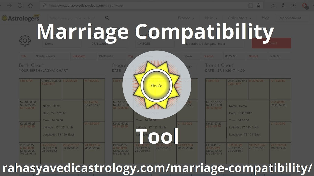 RVA Marriage Compatibility Tool | Advance Marriage Compatibility Software