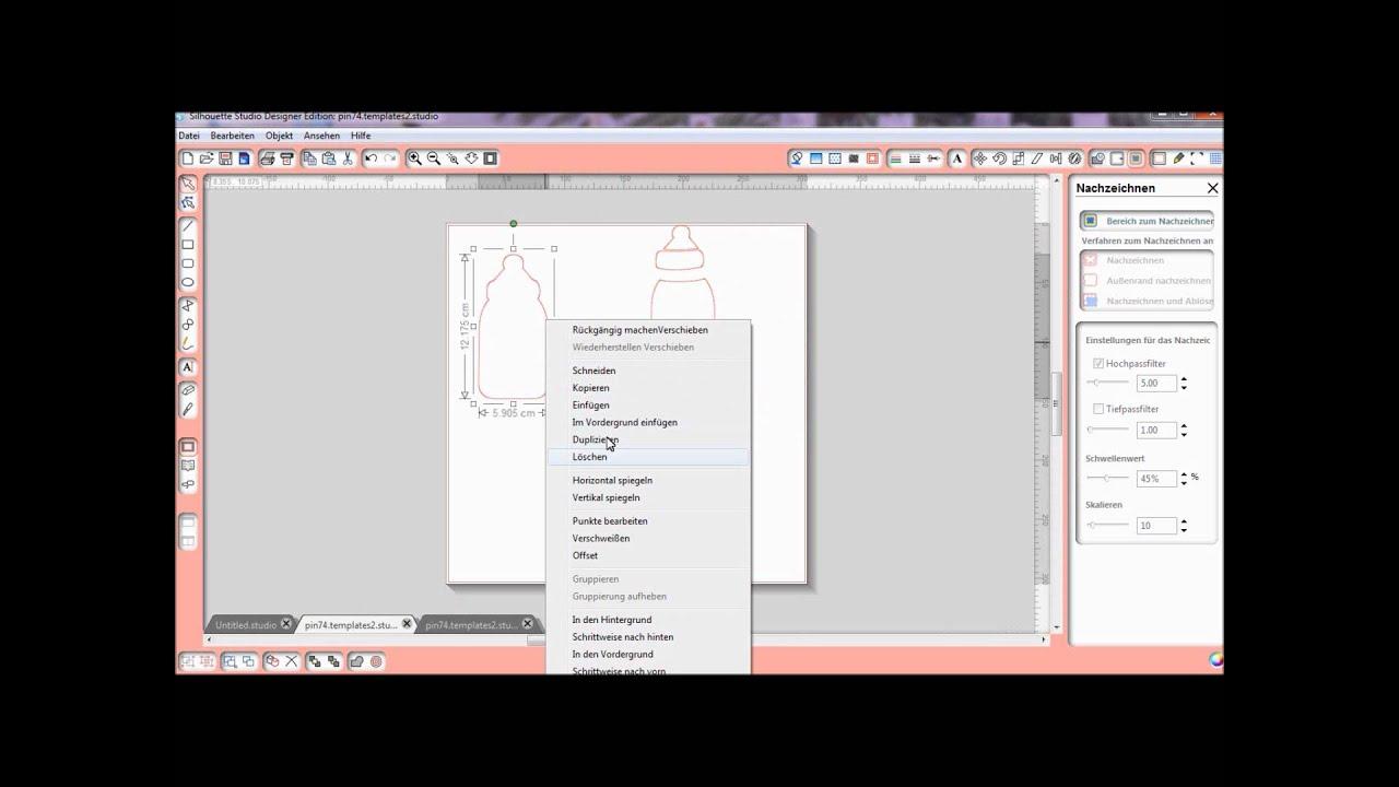 Silhouette Studio JPEG Datei in schneidedatei umwandeln (Deutsch ...