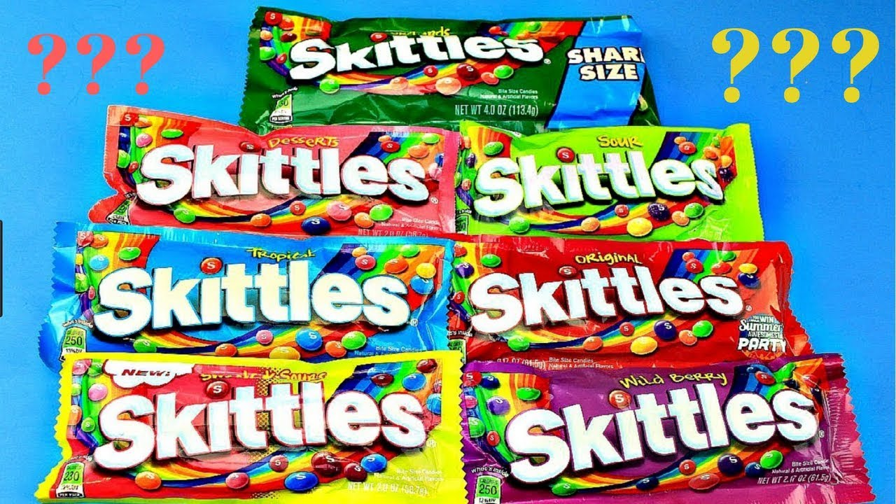 How Many Skittles Peices Are There In Skittle Pack Opening Diffe Flavors Of Candy