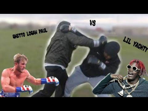 GHETTO LOGAN PAUL VS GHETTO LIL YACHTY (BOXING AT SCHOOL!!!)