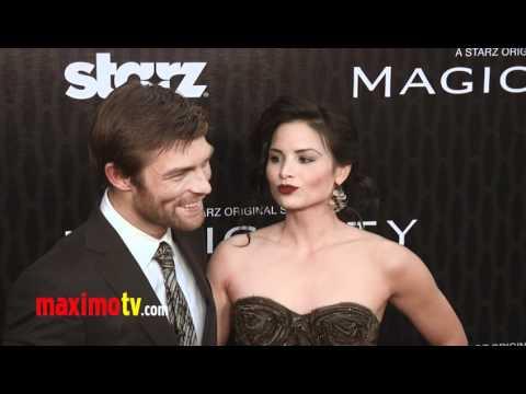 Liam McIntyre and Katrina Law STARZ