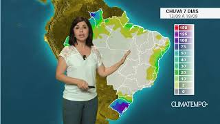 Chuva no Brasil para os próximos 7 dias