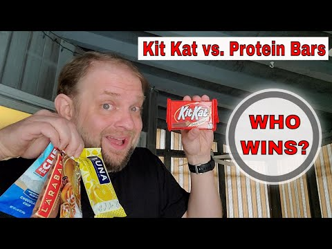 Kit Kat vs. Protein/Energy Bar nutrition show down | Clif Bar | Larabar | Luna | Quest Bar