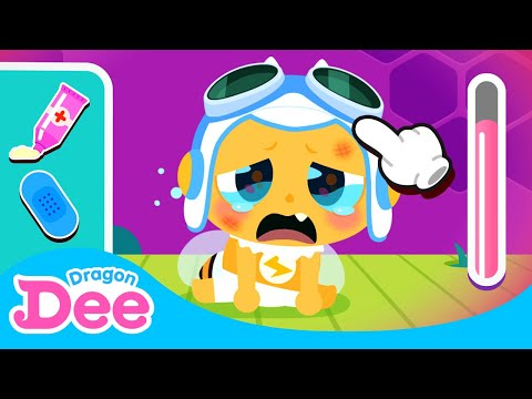 Help!! Baby Monster is hurt! | Take Care Game For Kids | Dragon Dee Games for Children