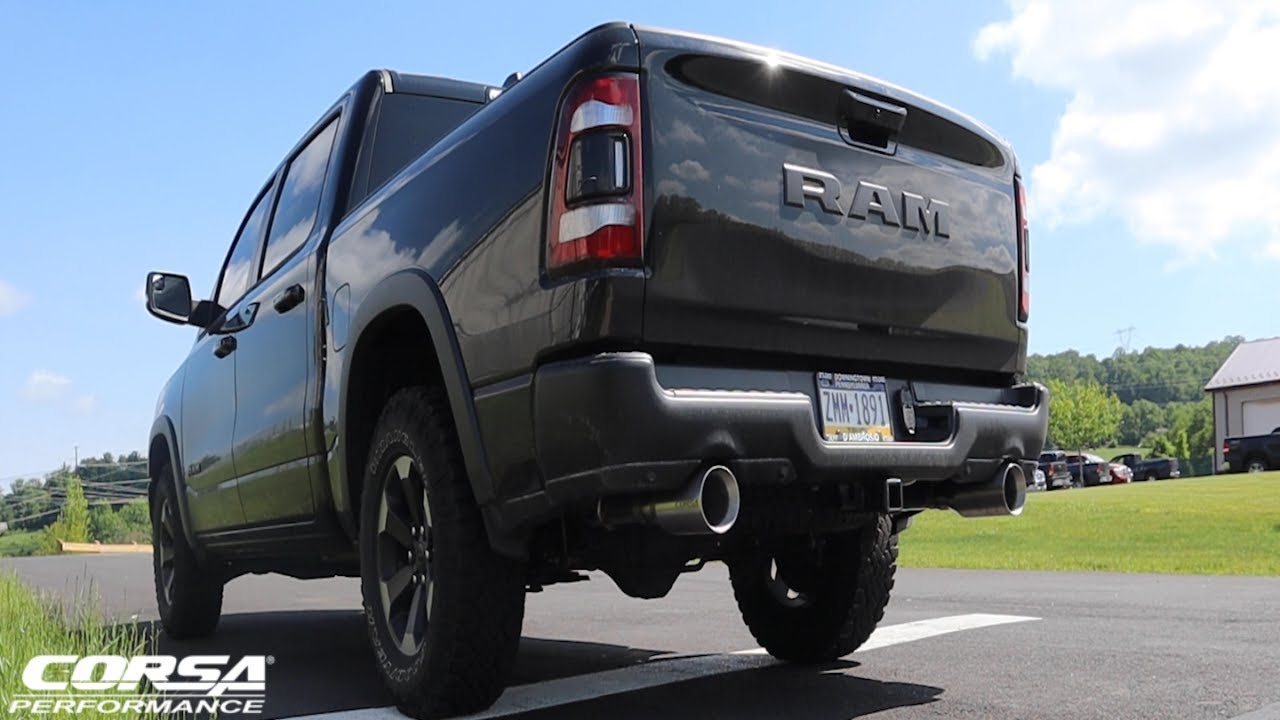 Ram 1500 Exhaust >> So Pumped 2019 Ram 1500 Corsa Extreme Sound Exhaust System Install Review