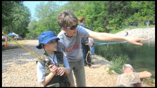 how to fish at roaring river state park
