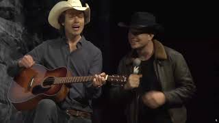 Elon and Kimbal Musk singing