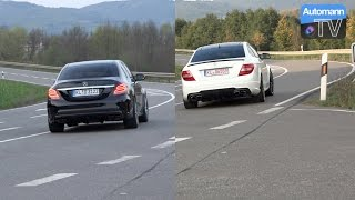 Mercedes-AMG C63 New vs. Old - RACE & SOUND (60FPS)