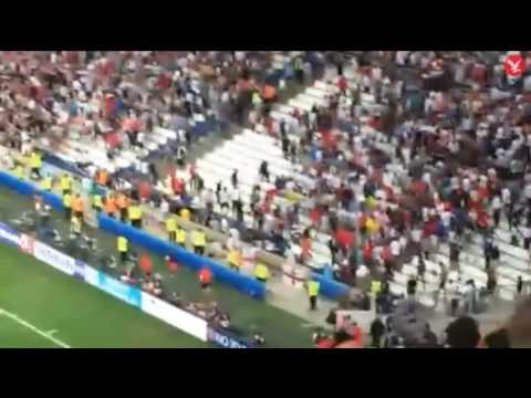 England vs Russia : Trouble breaks out in stands and fans 'charged' after final whistle