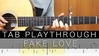 Gambar cover FAKE LOVE - BTS (방탄소년단) - TAB 吉他譜 (Fingerstyle)
