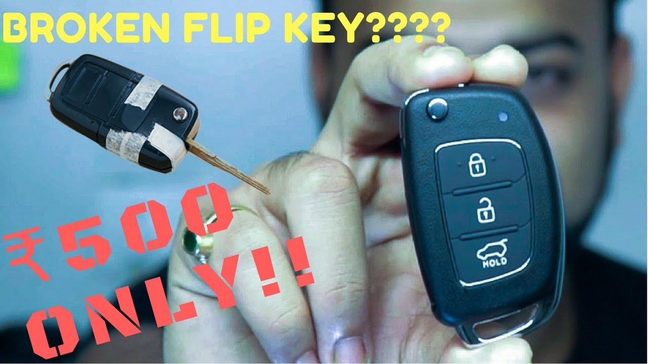 Fix Car Flip Key For 500 Only Hyundai I20 Elantra Verna Key Fob