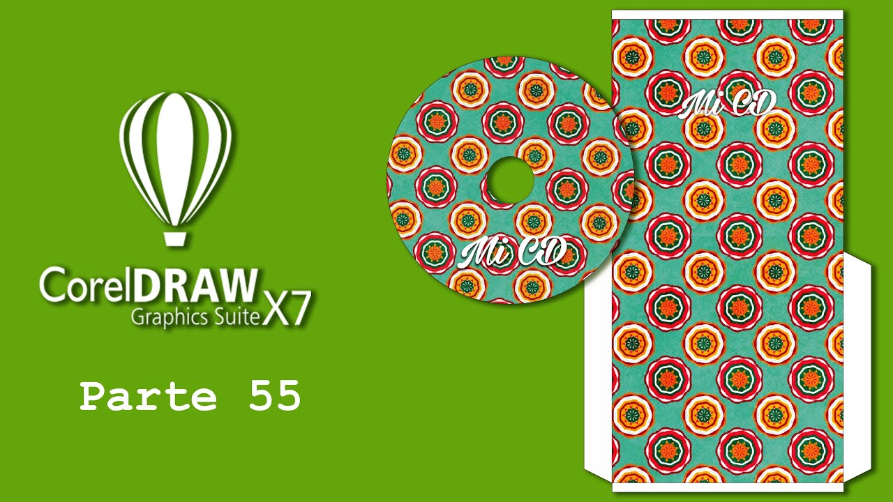 Corel DRAW X7 55) Plantilla para CD y sobre - YouTube