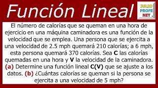 PROBLEMA DE APLICACIÓN DE LA FUNCIÓN LINEAL thumbnail