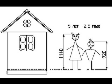 ч.0 Чертеж домика для детей