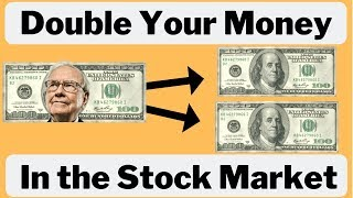 How to Double your Money in the Stock Market | 2019 💰