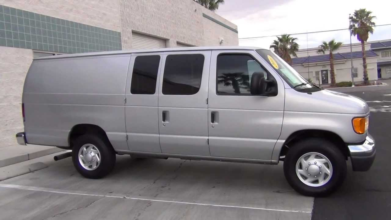 2006 ford e350 cargo van extended w 6 0l turbo diesel youtube