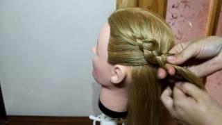 Боковая французская  коса с цветком Плетение косичек(Красивая и очень нарядная прическа боковая коса с цветком. Спасибо что смотрите мое видео Подписывайтесь..., 2016-08-09T05:00:40.000Z)