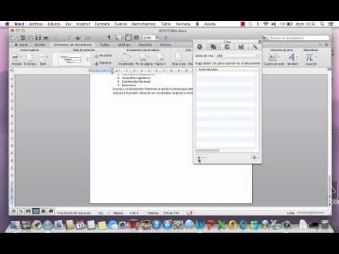 como poner indice en word mac