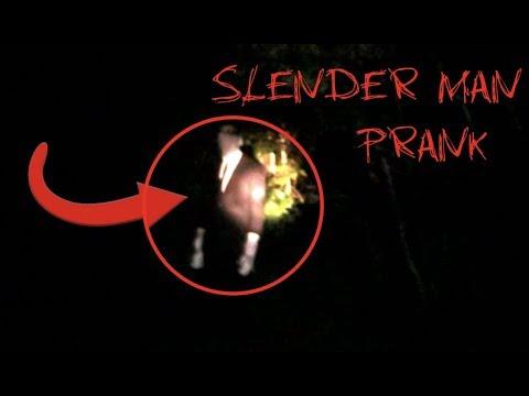 SLENDER MAN PRANK! ON FUNNYMIKE & CREW!!