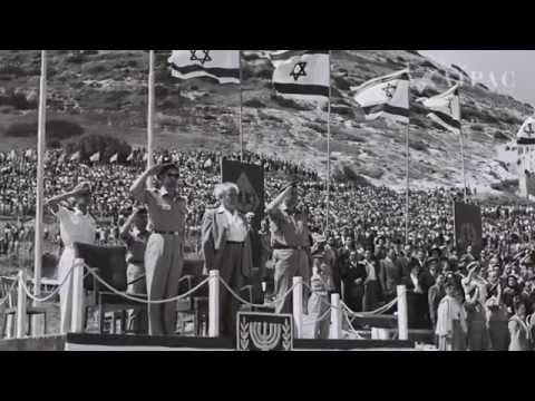 David Ben-Gurion Declaring Israel