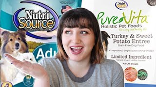 Pet Nutritionist Reviews Nutrisource and Purevita Dog Food