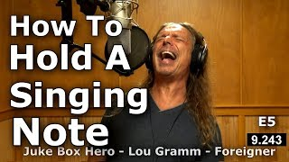 How To Belt And Hold A Note - Sustaining High Notes - Vocal Tutorial - Ken Tamplin Vocal Academy