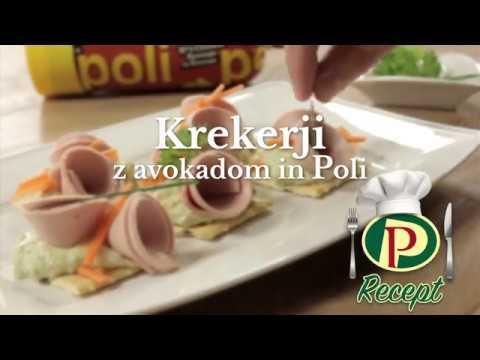 Recept: krekerji z avokadom in Poli